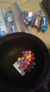 The candy the mother opened to find Tylenol inside (courtesy Phoebe Ann on Facebook.)
