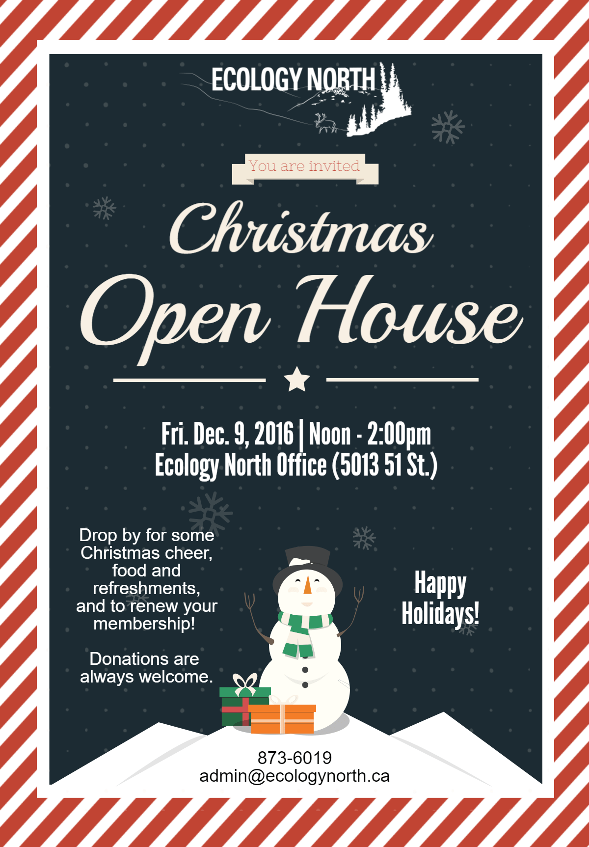 Ecology North Christmas Open House
