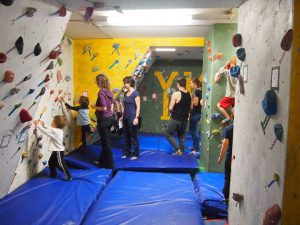 Inside the climbing club's current building. Photo courtesy: YKCC on Facebook.