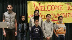 The Alhaji family. (from left to right: Mustafa Alhajy, Fida Alhajy, Zeina Alhajjy, Khaled Alhajy, Diya Alhajy, Muhammad Alhajy.