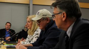 (from left to right) Cathie Bolstad, chairman Don Morin and Mike Olsen of NWT Tourism.