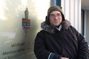 Andrew Robinson outside Michael McLeod's office.