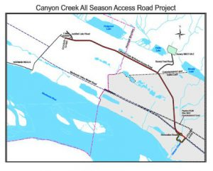 Canyon Creek all weather road