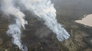 Fire just outside of Inuvik. Photo from ENR